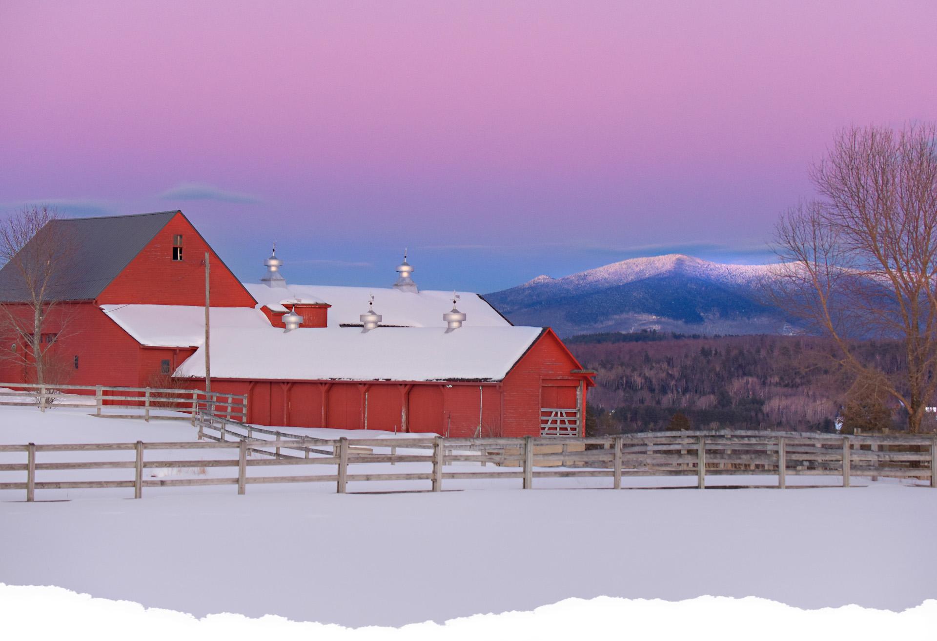 Bethlehem, New Hampshire during Winter